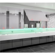 """4 razones para instalar un sistema """"detrás del espejo"""" en un baño público"""